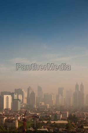 miasto grod town smog miejskich zanieczyszczenia