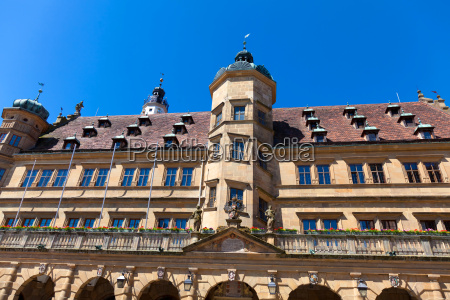 the town hall in rothenburg ob