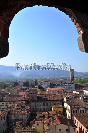 view from torre guinigi lucca tuscany