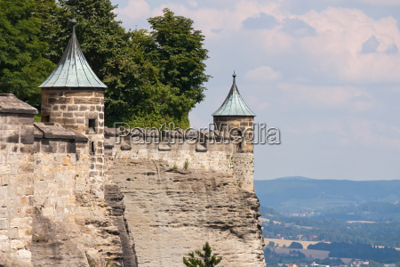 fortress wall with tower
