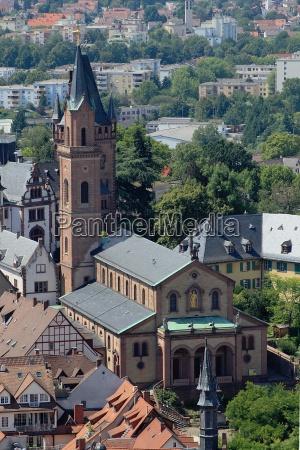 architecture in weinheim old town
