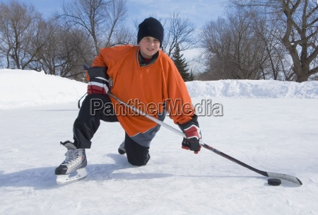 boy ice hockey player