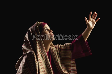woman depicting mary mother of jesus