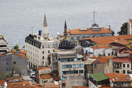 high angle view of buildings at