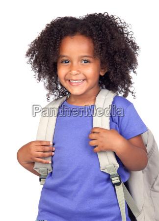 student dziewczynka o pieknych wlosach