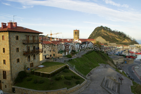 high angle view of buildings on