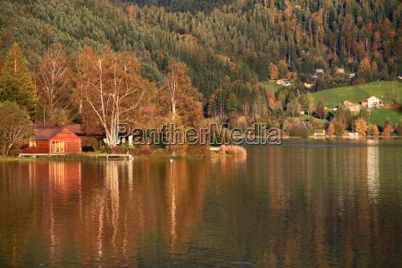 reflection wieczorne slonce farbowanie suesswasser jezioro