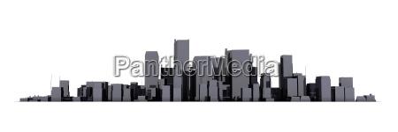 wide pejzaz miejski model 3d blyszczace