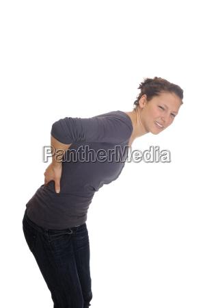 mloda kobieta ma bole plecow