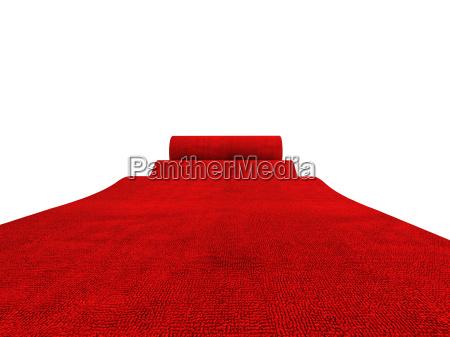 rolling czerwony dywan