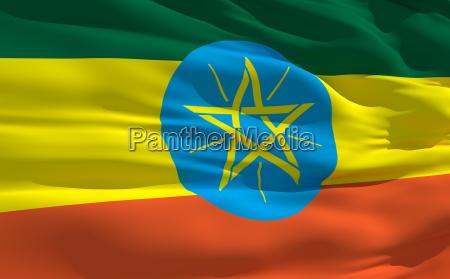 falowanie flaga etiopii