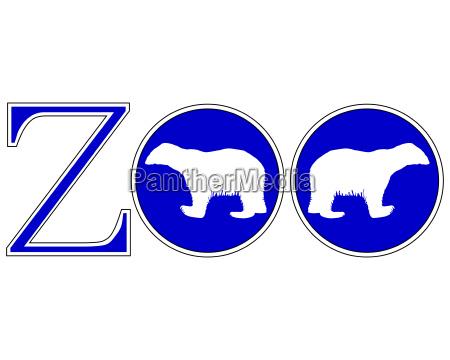sinal azul opcional jardim grafico animal
