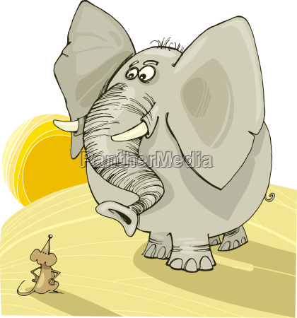 afryka slon sawanna nager gryzon ilustracja