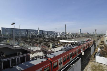dworzec stacja monachium stellwerk stahlkonstruktion deutschebahn
