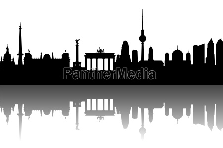 berlin skyline abstrakcyjne