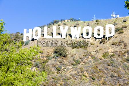 hollywood sign los angeles kalifornia usa