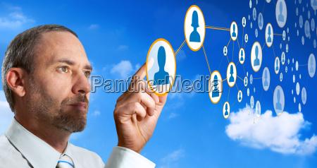 futurystyczny chmura sieci komputerowe
