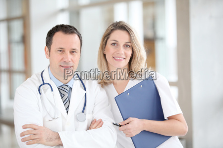 portrait of medical people standing in