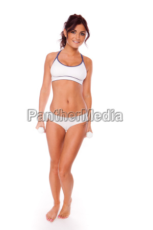 brunette fitness woman