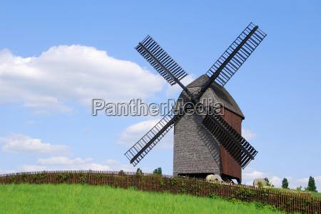 berlin wiatrak mlyn trawnik laka zielen