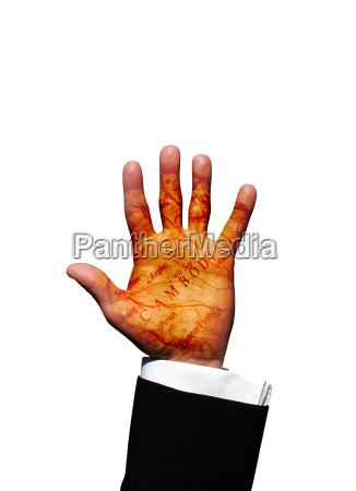 cambodia hand