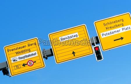 berlin tarcza sygnal znak znak drogowy