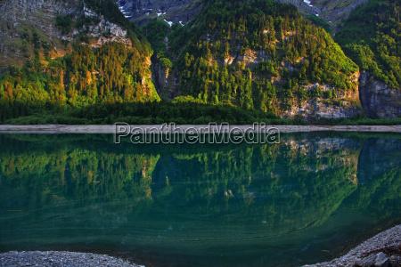 gory alpy szwajcaria reflection patrzec widok