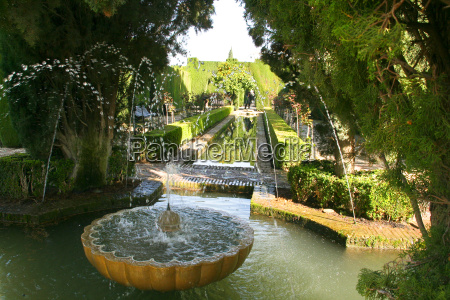 fountain in the gardens of the