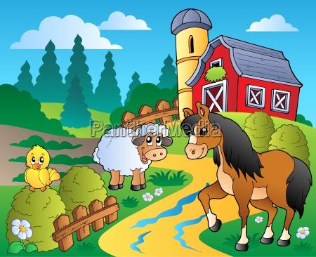 scena country z red barn 2