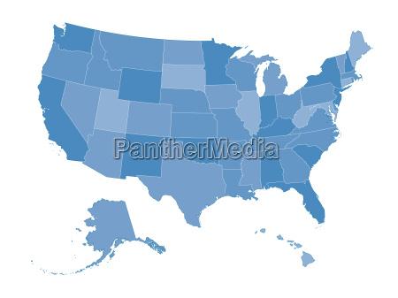 mapa stanow zjednoczonych
