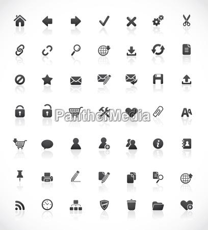 ikony sieci web i biurowych