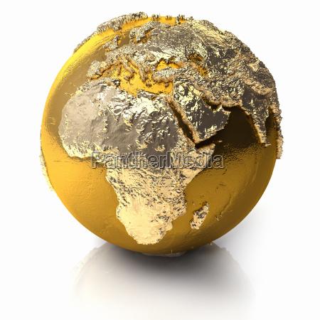 afryka zloty zloty zolty zloto globus