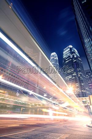 ruch drogowy transport pomost noc nocy
