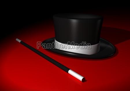 kapelusz wyczarowac czarowac czarownik mag magia