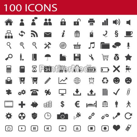 100 ikony