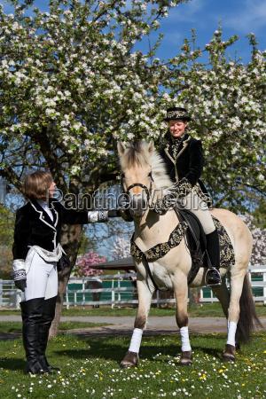 horse animal baroque riding costume rider