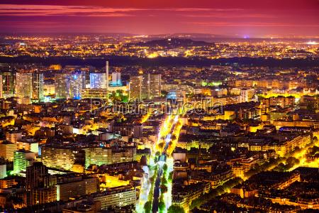 eastern paris at night