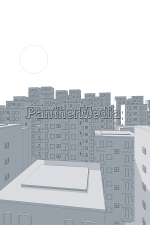 illustration of blue ghetto in the