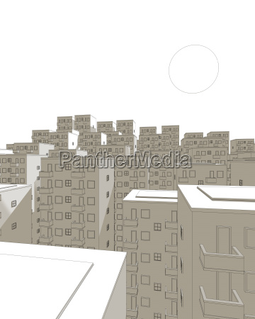 illustration of brown ghetto in the