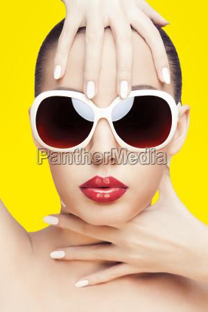 closeup portrait of young gorgeous caucasian