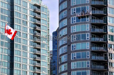 kanada kontrasty flaga styl budowy architektura