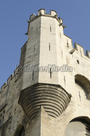corner tower of palace of popes