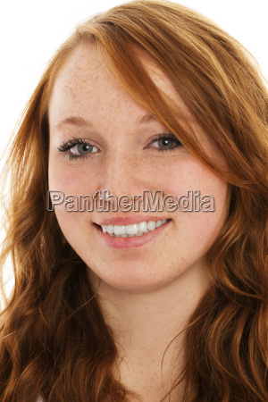 portrait of a young red haired