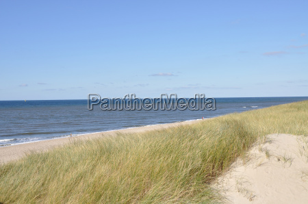 view over the dunes to the