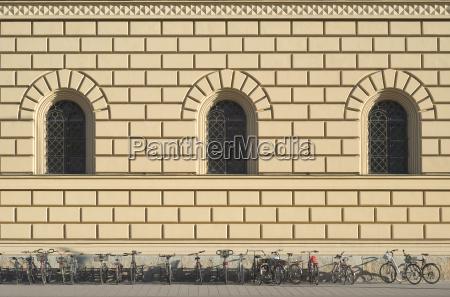 renaissance architecture with bikes