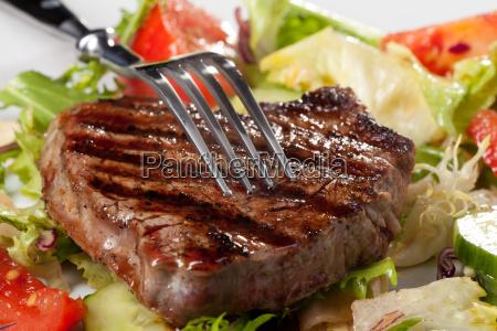 widelec na grillowany stek