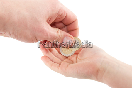 kieszen monety euro pieniedzy