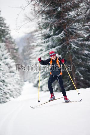 sport sporty zima zimowy snieg koks