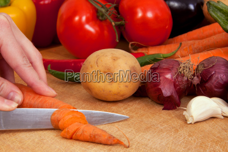 gospodyni domowa kawalki surowy zywnosc