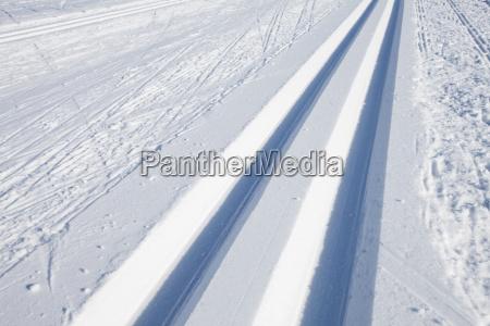 trasy narciarstwa biegowego zima